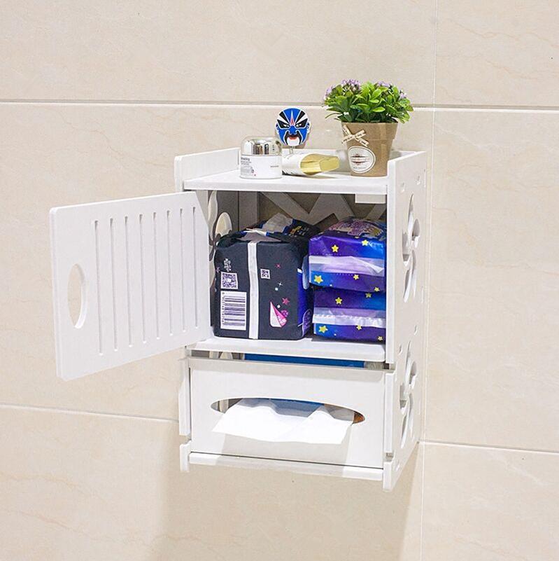 Туалетная ложечка для туалетной гигиены водонепроницаемый Настенная прокладочная простая рамная стойка для рулонной бумаги