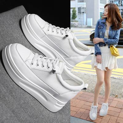 内增高小白鞋夏2021年新款春季女鞋春秋爆款百搭厚底运动春款单鞋