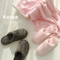 ? Percy couple home cotton slippers men indoor anti-skid home slippers home cute hair slippers female Autumn Winter