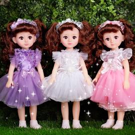 黛蓝芭比会说话的智能洋娃娃套装仿真精致女孩儿童公主玩具单个布