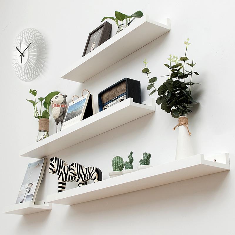 墙上置物架墙壁挂架电视墙卧室墙面装饰搁板层板挂墙一字隔板创意