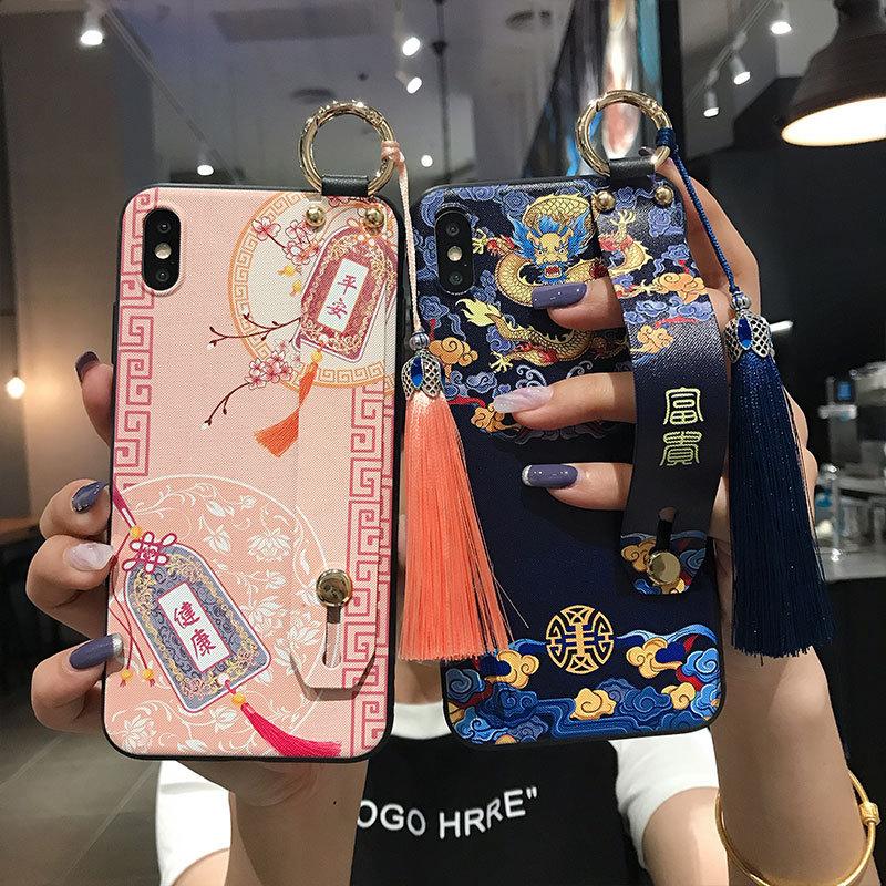 タオバオ仕入れ代行-ibuy99 iphone 国风腕带适用苹果x手机壳xs流苏max国潮iphone11保护壳pro男女款