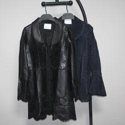 秒杀仅需169元/件库存清仓猪皮印花真皮皮衣女修身大码女装外套