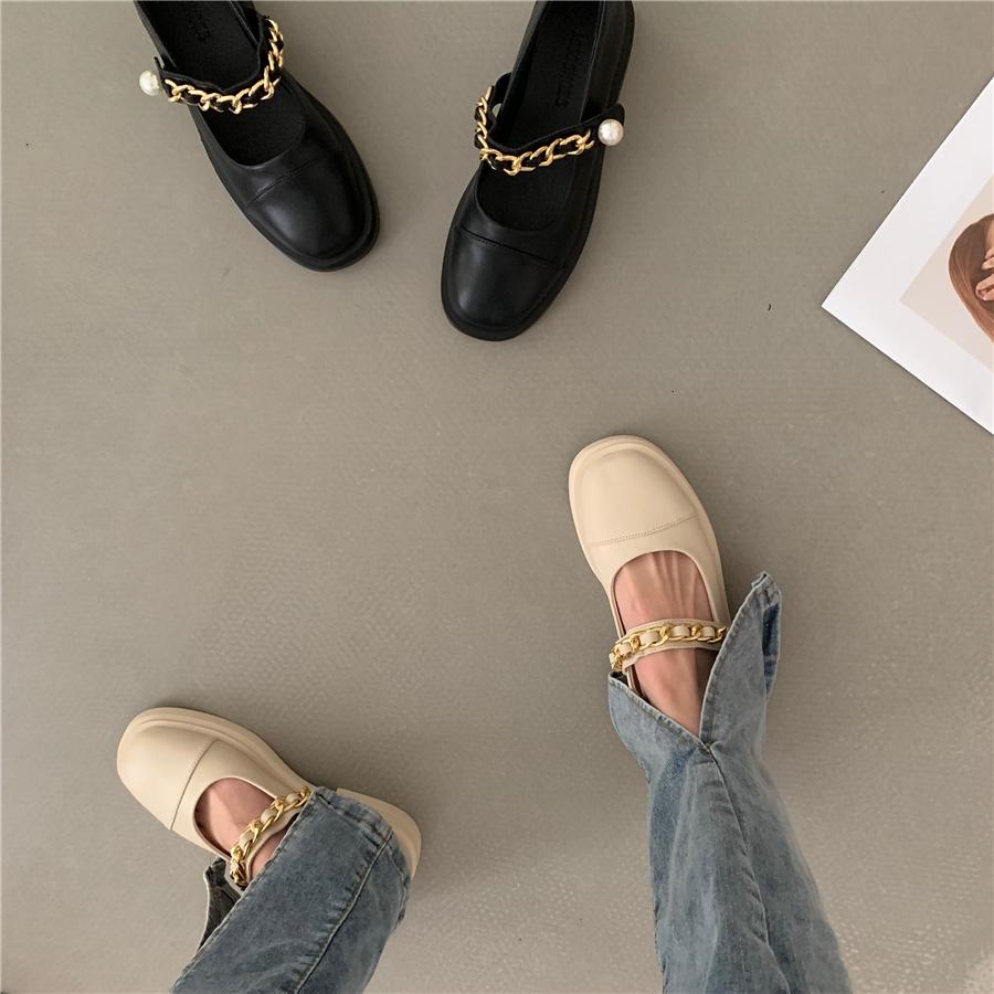 年春夏新款玛丽珍鞋外穿女鞋2021法式厚底英伦风皮鞋小众单鞋