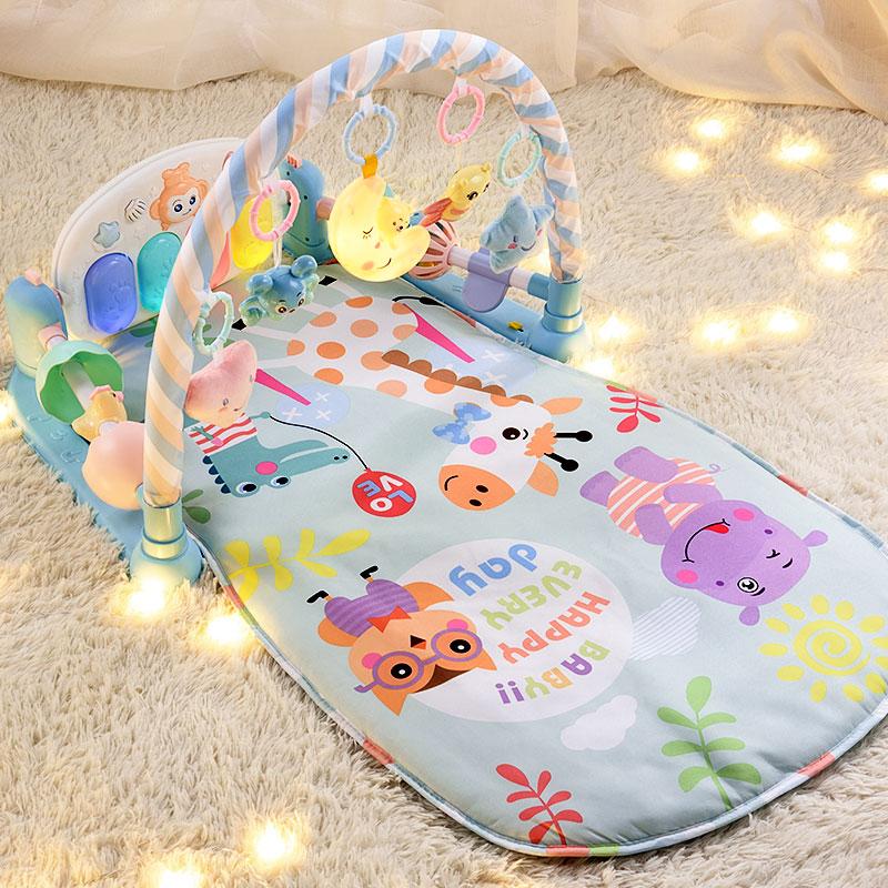 婴儿玩具脚踏健身架器床脚蹬0钢琴