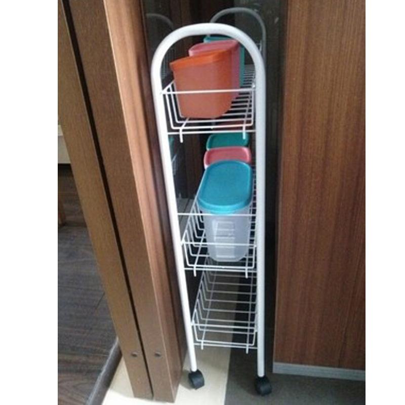 缝隙架子移动收纳架冰箱浴室厨房窄缝夹缝储物洗衣机旁收纳置物架12-01新券