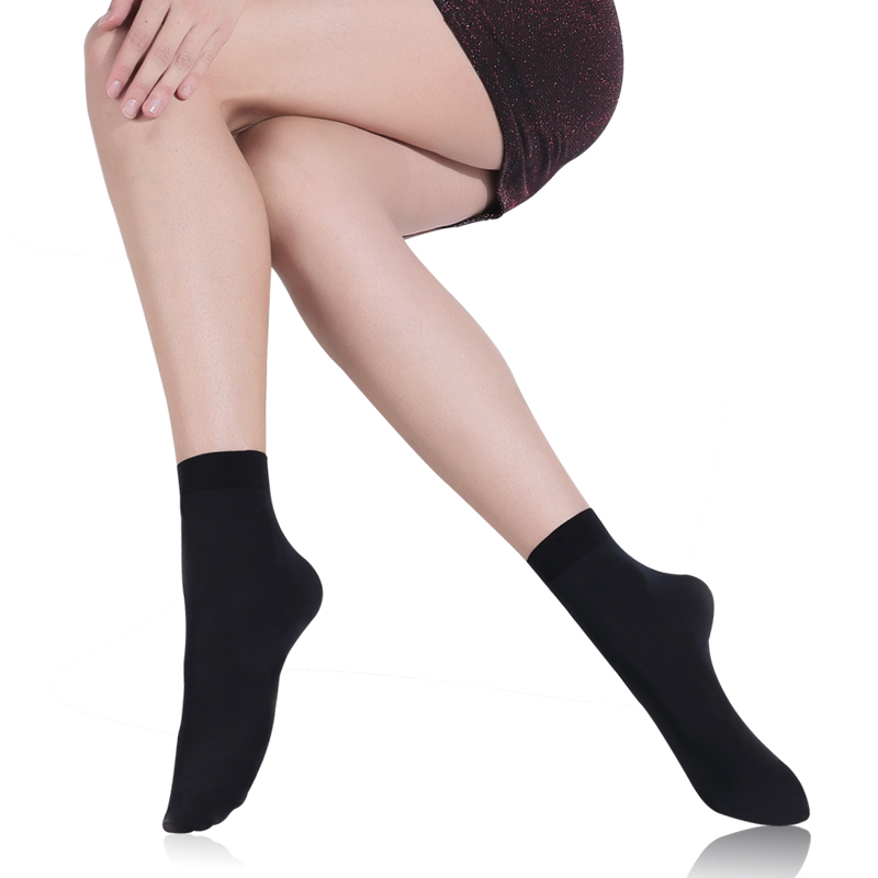Pierre Cardin loose mouth stockings women's socks spring, autumn and winter thickened wide mouth socks, tube socks, velvet short stockings