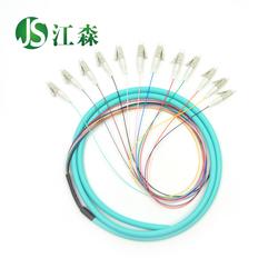 江森 LC 12芯1.5米万兆束状尾纤OM3尾纤50/125电信级