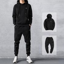 新款秋冬潮寬松青少年加絨加厚外套2018南極人男士衛衣男連帽衫