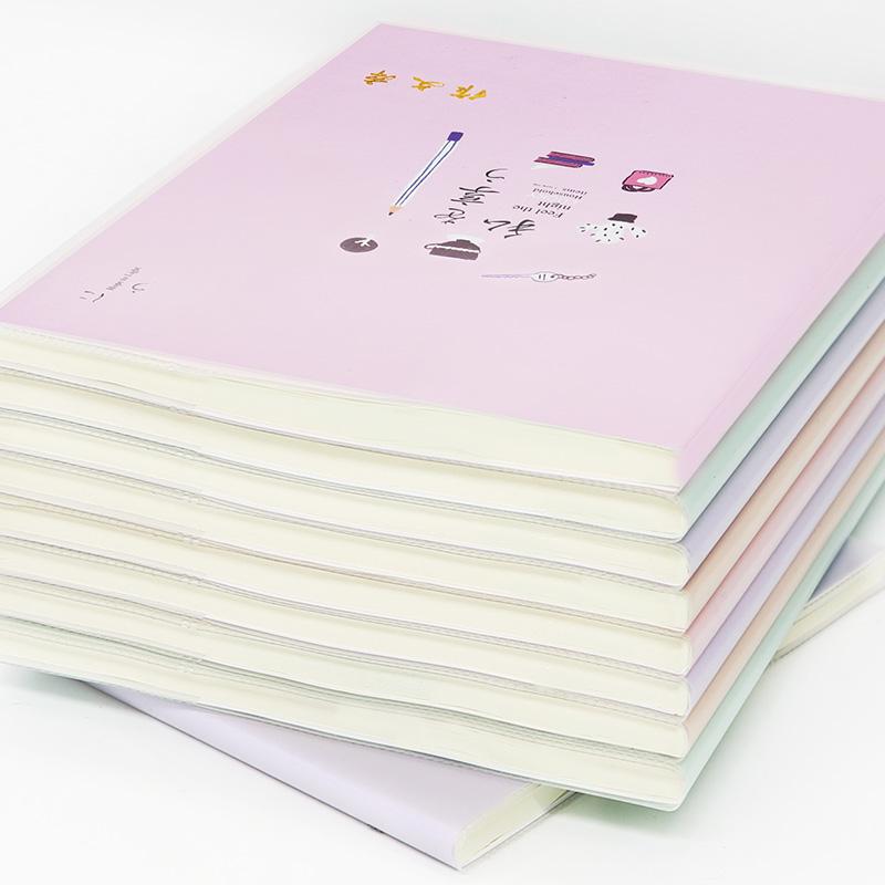 大号作文本子方格初中生高中学生用小学生英语本四线格课时语文本加厚16k胶套本子统一笔记本文具日记本批发