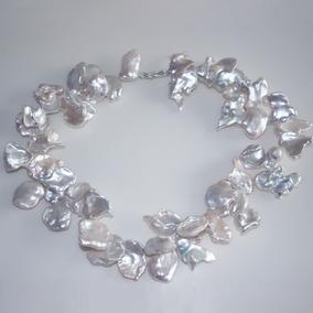巴洛克異形大花瓣片珍珠項鏈夸張歐美仙氣質送女友原創小眾時尚潮