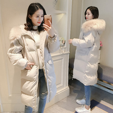 Anti-season loose down cotton jacket and thicker jacket Women's winter oversize cotton jacket Chao Korean version of knee-length BF cotton jacket