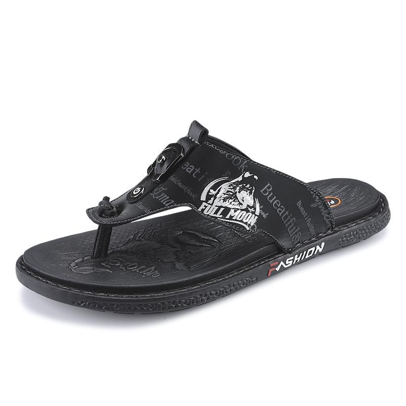 高档凉鞋拖士45加男休闲人字肥4A6夏季夹脚拖鞋47大号运动沙滩奢