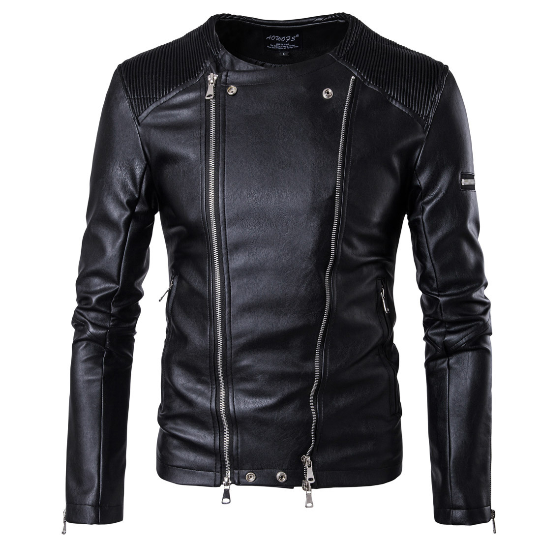 Euro 2019 new fashion mens motorcycle leather clothes fashion leather jacket jacket oversize m-5xl B001