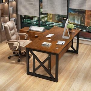 简约现代老板桌办公家具主管桌子