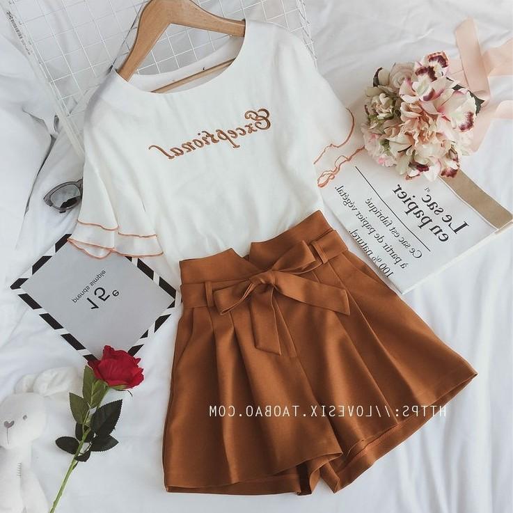 2018夏款新款女款短裤套装女装夏季时尚气质运动两件套夏日韩版潮