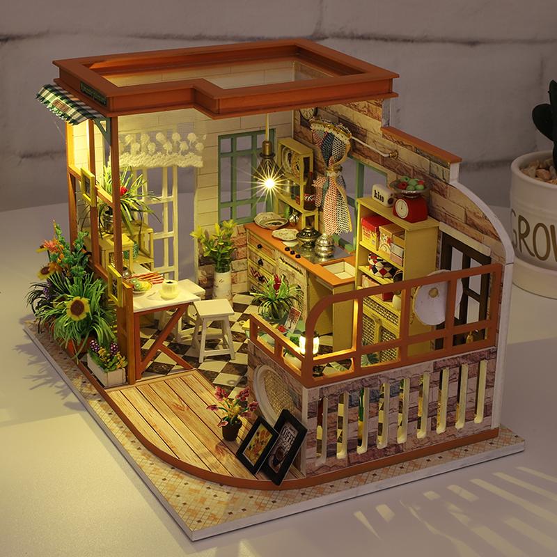 音乐盒八音盒diy手工木质拼图天空之城小女孩创意生日礼物送女生