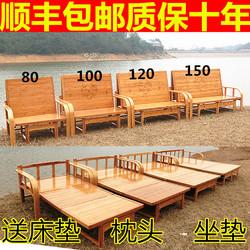 折叠床单人双人竹床午休午睡凉床家用1.2米多功能老式沙发床两用