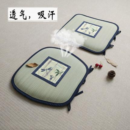 日式蔺草办公室四季椅子夏天餐椅垫