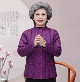 中老年人女秋冬薄棉服保暖妈妈内胆小棉袄奶奶装外套老太太花棉衣图片