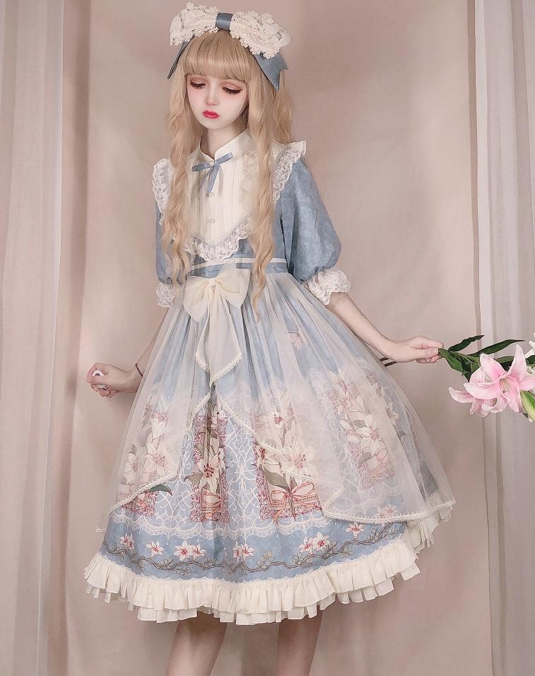 【三花猫lolitaオリジナル】午後のお茶のスカート本体はページを補って、予約金がなくて撮影しないでください。