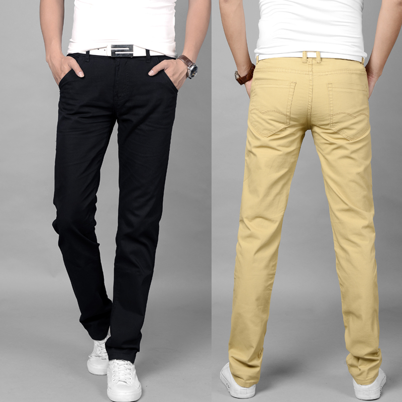 New summer casual pants mens slim youth thin pants mens straight autumn mens pants loose cloth trousers