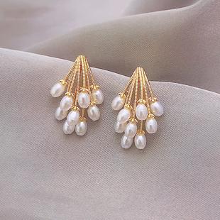 珍珠耳環韓國氣質網紅耳墜高級感法式時尚耳釘耳飾女2020年新款潮