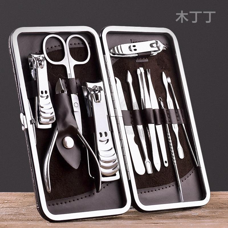 12件套指甲刀套装指甲剪鹰嘴指甲钳家用单个修脚磨美甲工具修脚刀