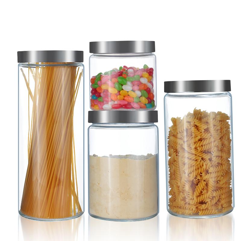喜碧密封罐玻璃儲藏罐玻璃瓶子茶葉罐奶粉罐廚房雜糧儲物罐收納盒