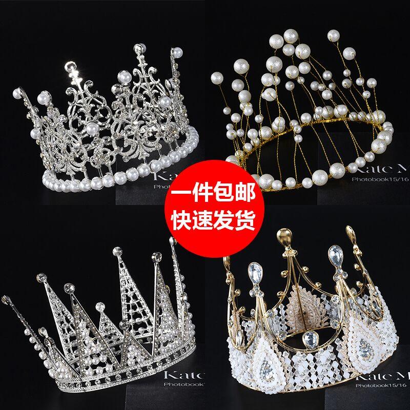 情人节皇冠生日派对装扮女神女王天鹅皇冠儿童皇冠蛋糕装饰摆件