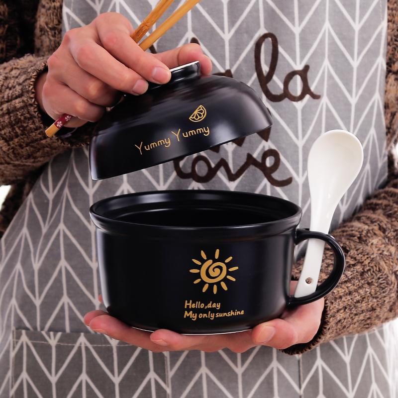 陶瓷饭碗可微波炉学生套装饭盒25.00元包邮