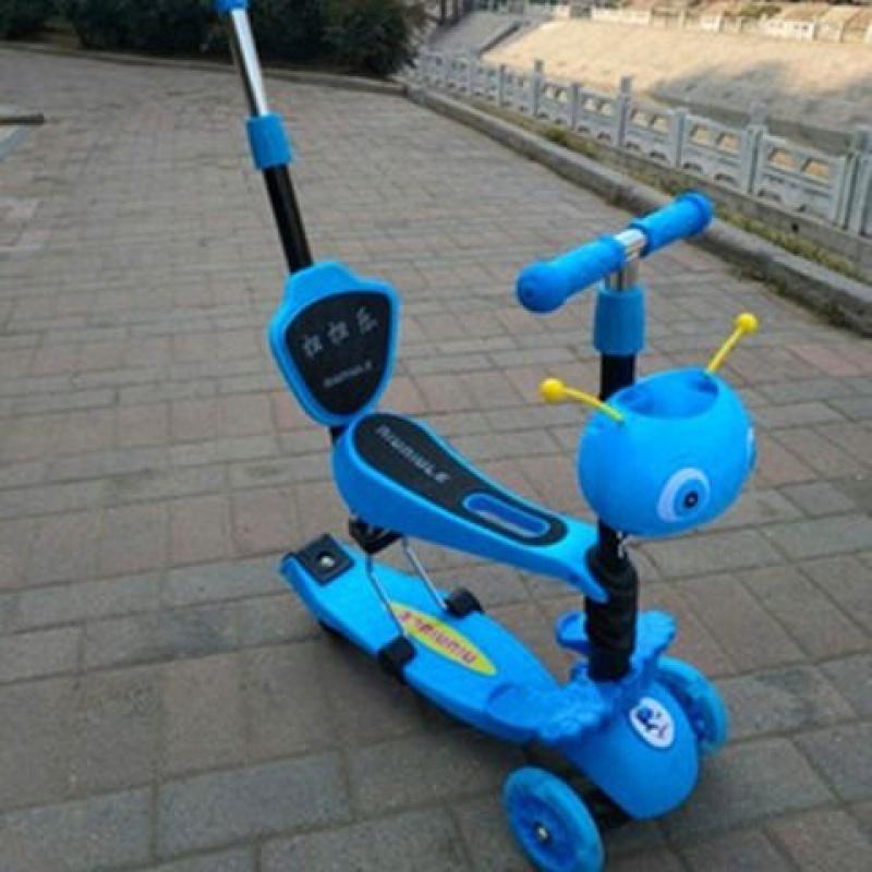 儿童滑板车3轮 三合一滑板车可坐踏板车 三轮滑行车童车 宝贝图片