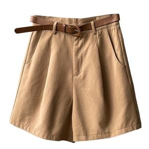 西装夏季韩版高腰宽松小个子阔腿裤