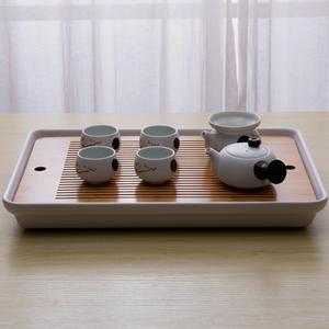 现代简约日式竹制创意家用茶盘茶台功夫轻奢湿泡盘干泡台储水托盘