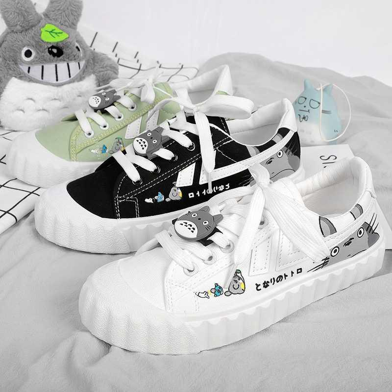 Low top canvas shoes womens graffiti hand-painted hip-hop canvas shoes womens low top printing graffiti summer new versatile board shoes