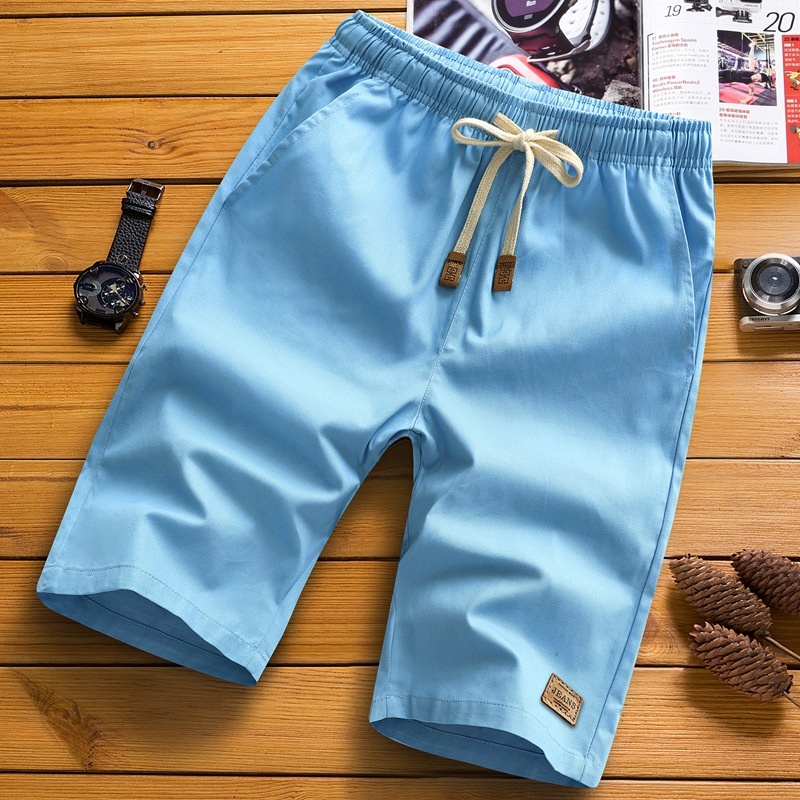Fashion brand hot summer new mens casual shorts pure cotton Capris shorts thin cross border large size beach pants