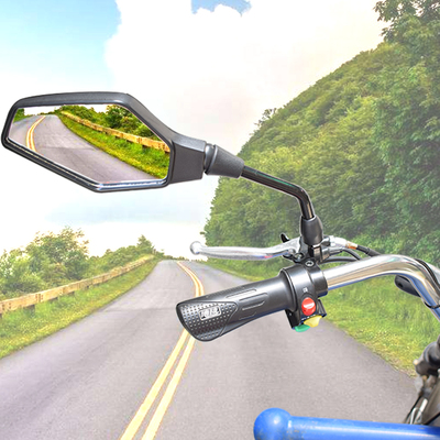 Motorcycle modification large field of view convex mirror bicycle mirror electric car rearview mirror motorcycle rearview mirror mail