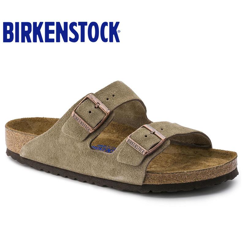 Birkenstock2021夏季休闲舒适情侣软木凉拖鞋牛反绒皮软底Arizona
