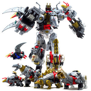 变形玩具金刚5 BPF修罗王天元飞镖钢索铁渣合体模型机器人恐龙