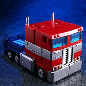 酷变宝拼装变形玩具金刚 G1擎天op柱汽车机器人枪威震v天钢索模型