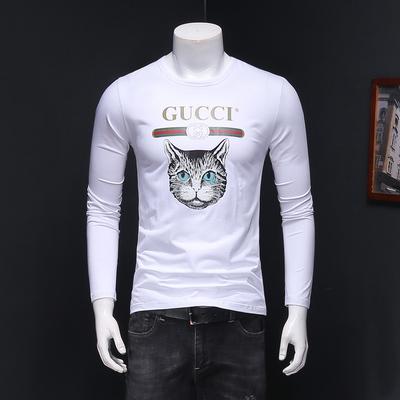 2019新款冰瓷棉长袖T恤 198-1-P75