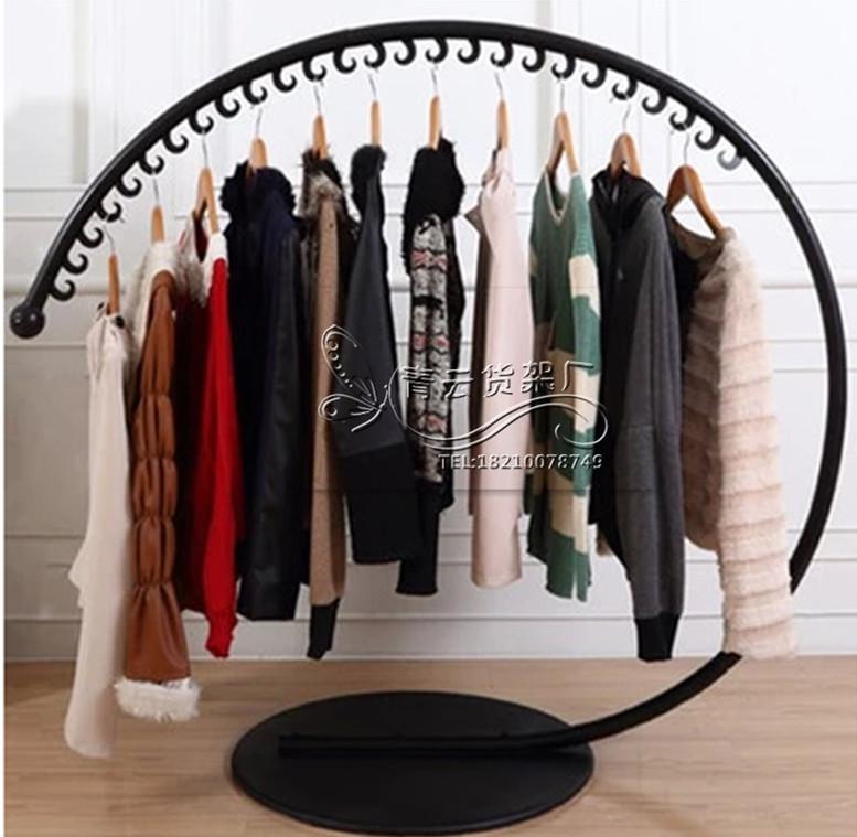 Кованое железо Накадзимаская стойка для одежды полукруг продажа одежды вешалка для одежды вешалка для магазинов полки большой c напольная стойка для стен