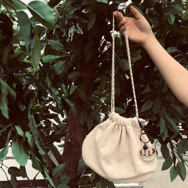 朱一龙粉丝应援全棉双层小笼包帆布包挂件钥匙链