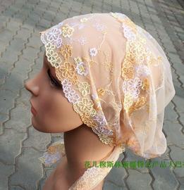 包邮 刺绣 精品 头巾 女帽 时尚方便盖头 绑巾 系带子 帽子图片