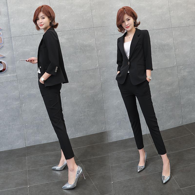 Leisure Blazer suit goddess temperament spring and autumn 2020 new Korean fashion professional suit suit European goods