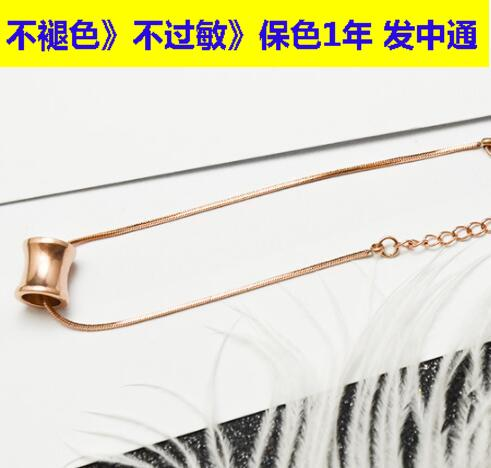 S21 factory direct selling large 18K Gold covered snake chain small hand chain barrel titanium steel rose gold material