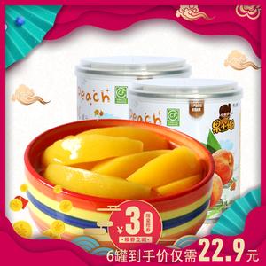 领3元券购买天同果小懒 糖水黄桃罐头6罐新鲜水果罐头即食罐头零食整箱包邮