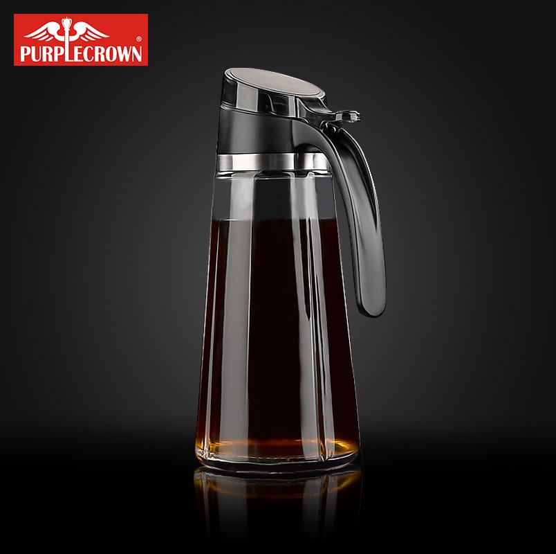 丹麦 PURPLECROWN油壶玻璃油壶防漏大号厨房醋家用罐酱油瓶醋瓶套券后128.00元