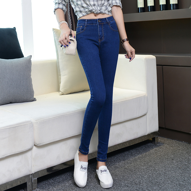High waisted jeans childrens summer slim Leggings