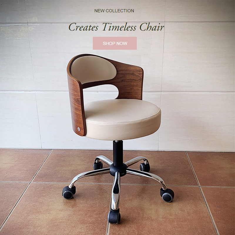 实木小巧电脑椅子简约书桌学生升降椅小型书房椅家用靠背美容转椅